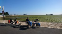 Aan de Bretonse kust kort na aankomst