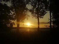 Zonsondergang bij camping Inter Nos Island