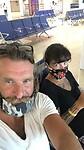 Spannend. Bij de gate voor de vlucht naar Fort Lauderdale.