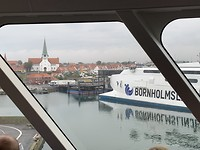 De boot van Bornholm naar Zweden