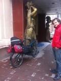 Ook Chiels fiets helemaal bepakt