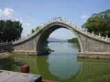 Bridge over troebel water...