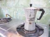 Goede koffie zetten. Lekker!