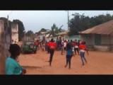 Voetbalfeestje in Bigelo