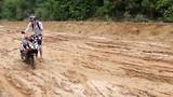 De modderweg op Phu Quoc