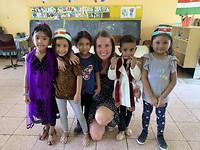 Groep 1 bezoek op de Sint Clara school