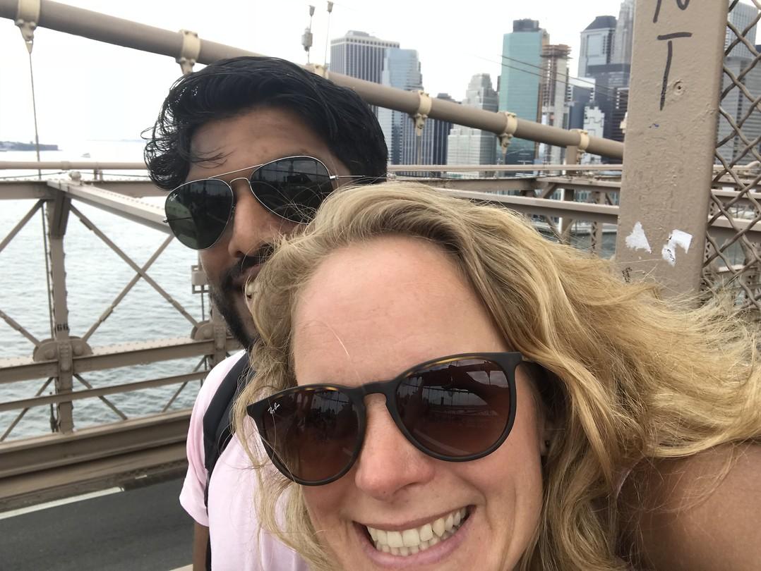 Op de Brooklyn Bridge
