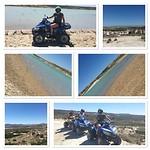 Foto's van het quad rijden.