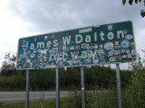 Sign of the start of the Dalton Highway