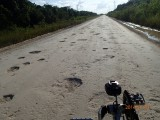The MAIN highway from the North to Orange walk (Halfway to Belize City!)