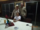 A nice picture together with the family Carr, the owners (37 years!) of the Banana Bank Inn!
