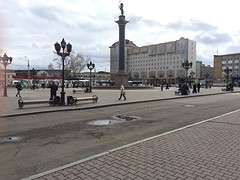 Stationsplein van Krasnoyarsk