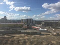 Zonnig uitzicht op Ulan-Ude