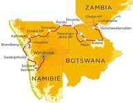 De route van onze reis