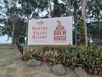We zijn er ...... bord Hunter Valley Resort