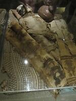 Goedbewaarde mummie in Museo Arqueologico Nacional Bruning