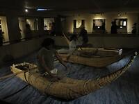 Traditionele vissersboten (zoals ook te zien in Huanchaco)