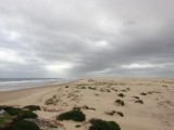 Grote zandduinen uitgestrekt gebied