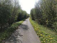 RAVeL weg (fietspad over voormalige spoorbaan)