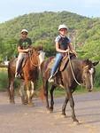 paardrijden in het bos en op het strand