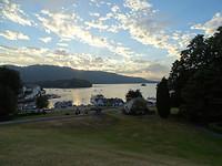 De avond valt over Lake Windermere