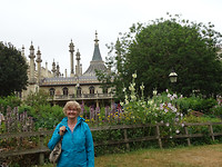 de bloementuin bij The Royal Pavilion
