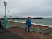zicht op de pier  in Brighton