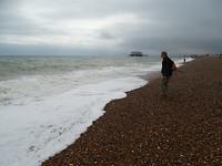 het keienstrand in Brighton