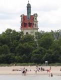 De vuurtoren in Sopot, vlak bij de pier.
