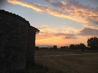 Zonsondergang bij Assisi