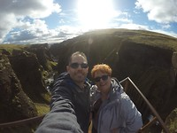 On top of Fjaorárgljúfur