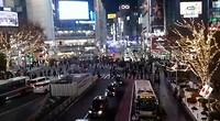 Shibuya crossing op een rustige avond
