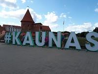 Kaunas voor het kasteel