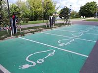 E-laadpunt op parkeerterrein Kaunas