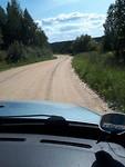Onverharde weg in Litouwen