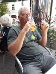 Bier op terras in Vilnius