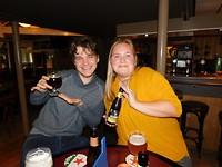 Biertje op de goede afloop