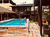 Lost in Changmai impressions - zwembad uitzicht kamer 6