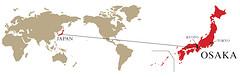 Japan op wereldkaart