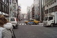 Straat in Ginza