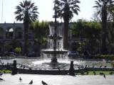 Het plein in arequipa