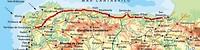 The Camino North route