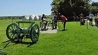 Demonstratie kanon Waterloo