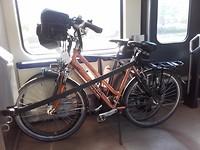 met de fietsen in de trein