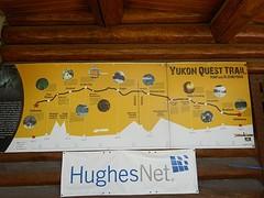 De trail (route) van de Yukon Quest