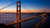 Golden Gate Bridge bij schemer