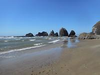 Rotspartijen voor de kust