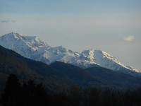 Besneeuwde toppen bij Grenoble
