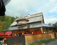 Passeren onderweg een pittoresk restaurantje