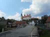 Een van de kerkjes in Telc